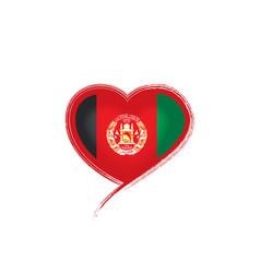 Afghanistan flag on a white vector