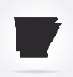 arkansas ar state map shape silhouette simplified vector image