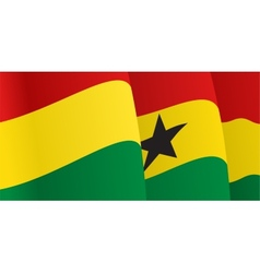 Background with waving Ghana Flag vector image