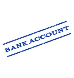 Bank Account Watermark Stamp vector