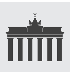 Brandenburg gate icon vector