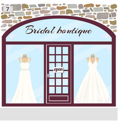bridal boutique wedding shop vector image