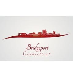 Bridgeport skyline in red vector image vector image