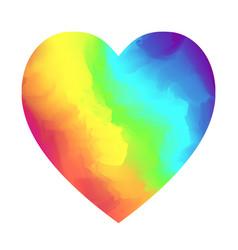 bright rainbow colors gradient heart shape vector image