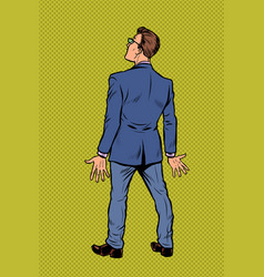 businessman stands back vector image