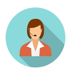 Call center operators female avatar icons vector