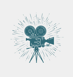 Camcorder movie camera video shooting cinema vector