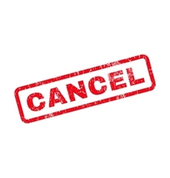 Cancel Text Rubber Stamp vector image