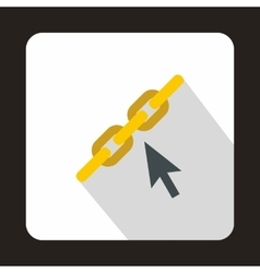 Chain link icon in flat style vector image