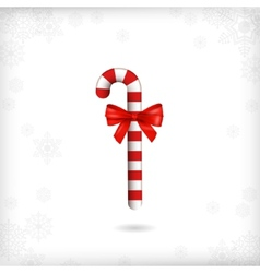 Christmas Candy Cane Red Bow vector