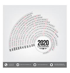 Circle 2020 calender vector