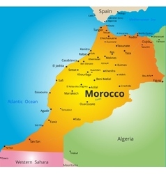 Color map of Morocco country vector