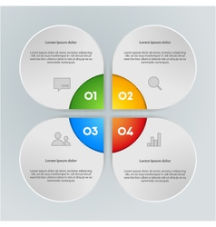 colorful info graphic elements vector image
