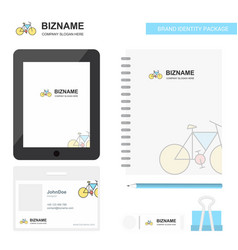 cycle business logo tab app diary pvc employee vector image
