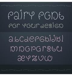 Dark fairytale font Nice ornate linear style font vector