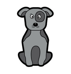 dog or puppy pet icon image vector image