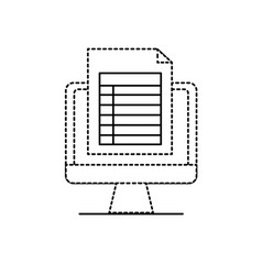 Dotted shape computer document information and vector