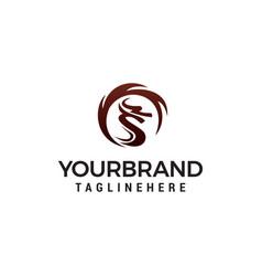 dragon logo template design concept template vector image