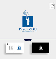 Dream child creative logo template with business vector