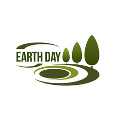 Earth day icon for green nature ecology vector