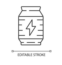 Energy drink linear icon video game extra life vector