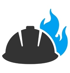 Fire helmet icon vector