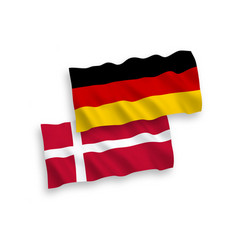 flags denmark and germany on a white background vector image