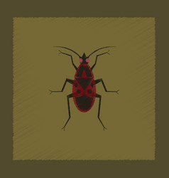 Flat shading style soldier bug vector
