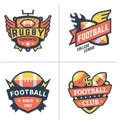 Football and rugby emblems vector image vector image
