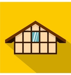 German house icon flat style vector