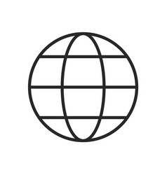 globe icon world sign vector image
