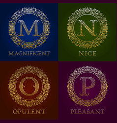 golden templates for magnificent nice opulent vector image
