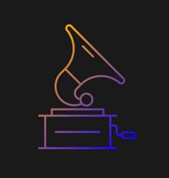 gramophone gradient icon for dark theme vector image