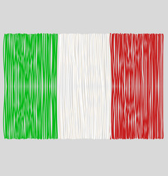 Hand drawn italian flag vector