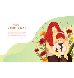 happy mother day landing page concept template vector image