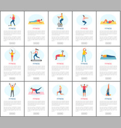 healthy people lifestyle fitness webpage vector image