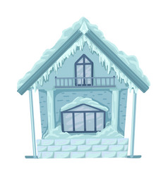 Ice hut from russian fairytales isolated vector