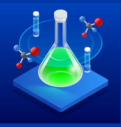 Isometric analysis lab chemical laboratory vector