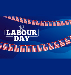 labour day poster international workers day vector image