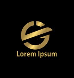 letter s business logo vector image