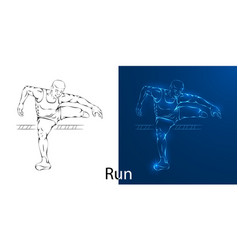 line drawing of a man jumping vector image