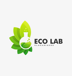 Logo eco lab gradient colorful style vector