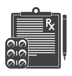 Medical prescription icon vector