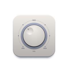 Music sound knob button audio control switch vector
