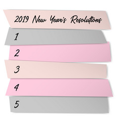 New year resolutions challenge template vector