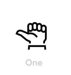 one hand gesture icon thumb first finger vector image