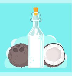 plant-based vegan coconut milk healthy vector image
