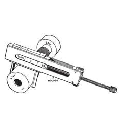 Plug gauge vintage vector