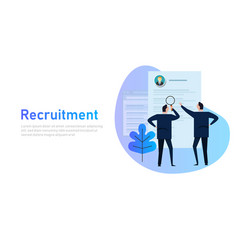 recruitment process selecting candidate by human vector image