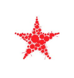 Red blood splash star vector